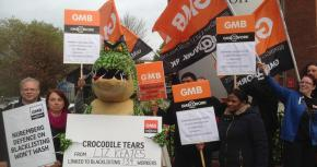 Crocodile Tears Bedfordshire Protest On Blacklisting